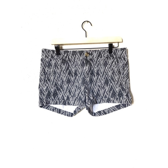 American Eagle Outfitters Pants - AEO Dark Grey And White Geometric Speckled Shorts